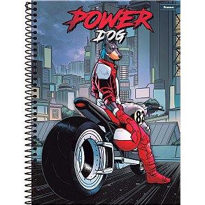 Caderno 10X1 Capa Dura 2021 Power Dog 200 Folhas Foroni