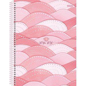 Caderno 10X1 Capa Dura 2021 Rosa Rose 160F São Domingos