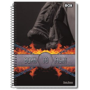 Caderno 10X1 Capa Dura 2021 Rox 200Fls. Pauta Branca