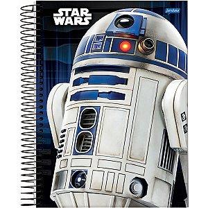 Caderno 10X1 Capa Dura 2021 Star Wars Basic 160Fls. Jandaia