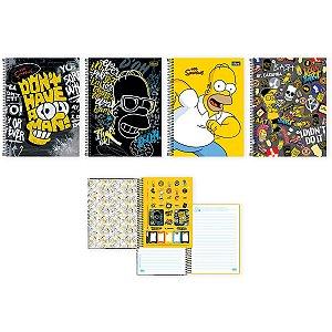 Caderno 10X1 Capa Dura 2021 The Simpsons 160Fls. Tilibra