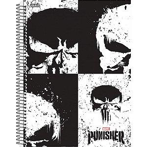 Caderno 10X1 Capa Dura Punisher 200Fls São Domingos