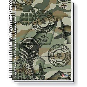 Caderno 15X1 Capa Dura 2021 Camuflagem 240F Tamoio
