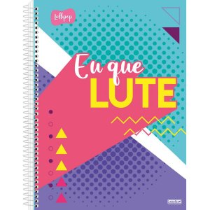 Caderno 15X1 Capa Dura 2021 Lolli Pop 240F São Domingos