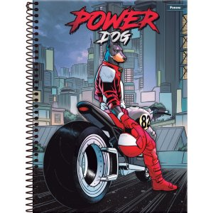 Caderno 15X1 Capa Dura 2021 Power Dog 300 Folhas Foroni