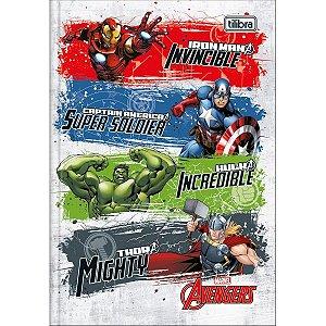 Caderno Brochura 1/4 Capa Dura Avengers Assemble 80Fls. Tilibra