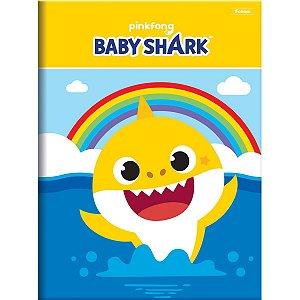 Caderno Brochura 1/4 Capa Dura Baby Shark 96Fls. Foroni
