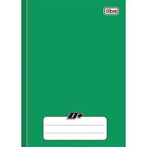 Caderno Brochura 1/4 Capa Dura D+ 96 Folhas Verde Tilibra