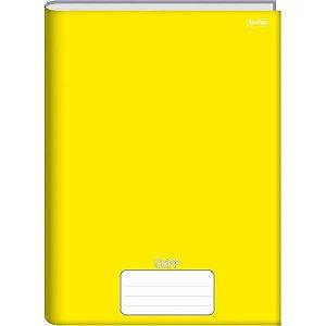 Caderno Brochura 1/4 Capa Dura Stiff 48 Folhas Amarelo Jandaia