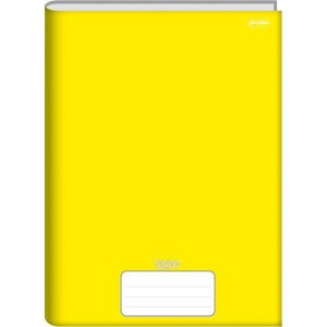 Caderno Brochura 1/4 Capa Dura Stiff 96 Folhas Amarelo Jandaia