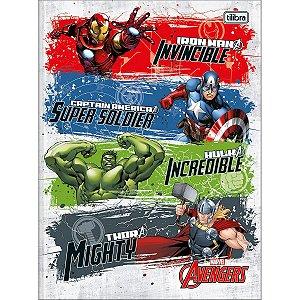 Caderno Brochurao Capa Dura Avengers Assemble 80Fls. Tilibra