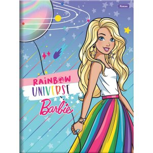 Caderno Brochurao Capa Dura Barbie 80Fls. Foroni
