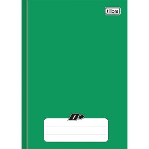 Caderno Brochurao Capa Dura D+ 96 Folhas Verde Tilibra