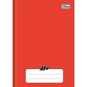 Caderno Brochurao Capa Dura D+ 96 Folhas Vermelho Tilibra