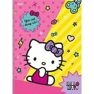 Caderno Brochurao Capa Dura Hello Kitty 80F São Domingos