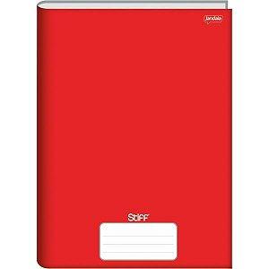 Caderno Brochurao Capa Dura Stiff 96 Folhas Vermelho Jandaia