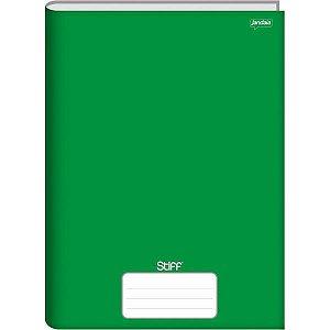 Caderno Brochurao Sem Pauta Stiff 96 Folhas Verde Cd. Jandaia