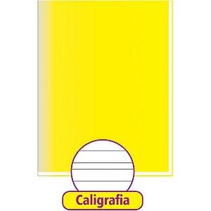 Caderno Caligrafia Capa Dura Liso 48Fl Brochurao Amarelo Tamoio