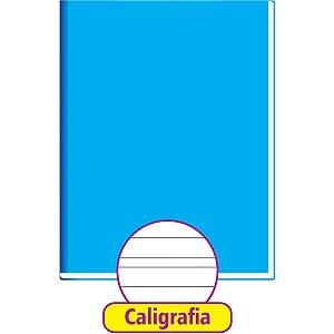 Caderno Caligrafia Capa Dura Liso 48Fl Brochurao Azul Tamoio
