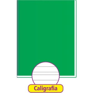 Caderno Caligrafia Capa Dura Liso 48Fl Brochurao Verde Tamoio