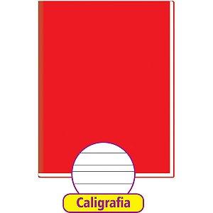 Caderno Caligrafia Capa Dura Liso 48Fl Brochurao Vermelho Tamoio