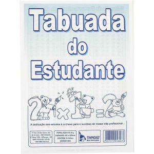 Caderno De Tabuada Tabuada Do Estudante 10 Folhas Tamoio