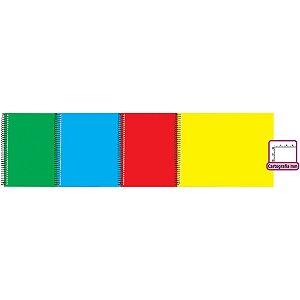 Caderno Desenho Milimetrado Liso 48F Capa Dura Az/am/vd/vm Tamoio