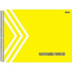 Caderno Desenho Univ Capa Dura Amarelo 60F São Domingos
