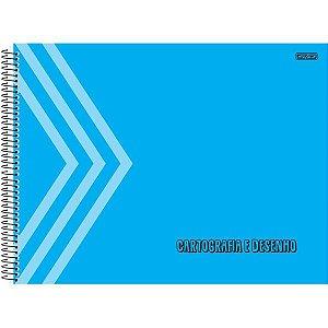 Caderno Desenho Univ Capa Dura Azul 60F São Domingos