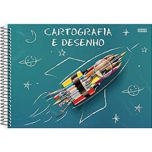 Caderno Desenho Univ Capa Dura Espiral 60F São Domingos