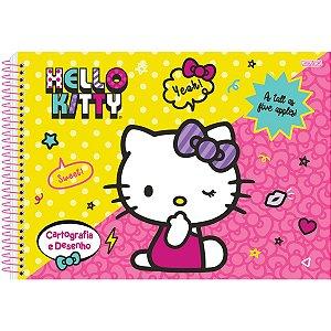Caderno Desenho Univ Capa Dura Hello Kitty 60F São Domingos