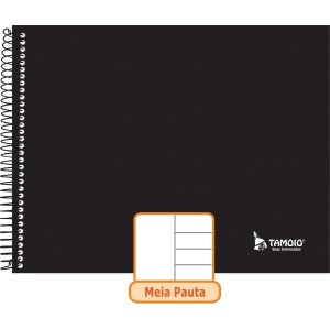 Caderno Desenho Univ Capa Dura Meia Pauta 96F Neutro Tamoio