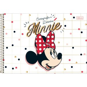 Caderno Desenho Univ Capa Dura Minnie 80Fls. Tilibra