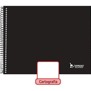 Caderno Desenho Univ Capa Dura Neutro Liso 48F Espiral Tamoio