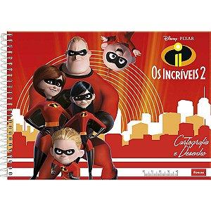 Caderno Desenho Univ Capa Dura Os Incriveis 2 96Fls. Foroni