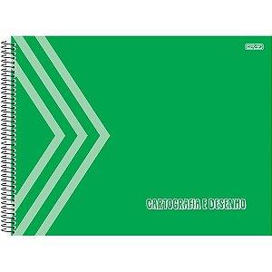 Caderno Desenho Univ Capa Dura Verde 60F São Domingos
