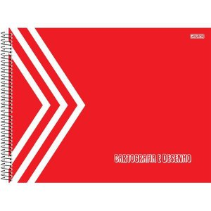 Caderno Desenho Univ Capa Dura Vermelho 60F São Domingos