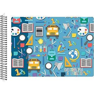 Caderno Desenho Universitario Duplex Espiral 48F Flexivel São Domingos