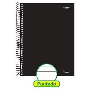 Caderno Espiral 1/4 Capa Dura Neutro Preto 200F Tamoio