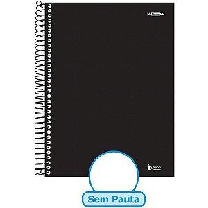 Caderno Espiral 1/4 Capa Dura Neutro Preto 200F Sem Pauta Tamoio