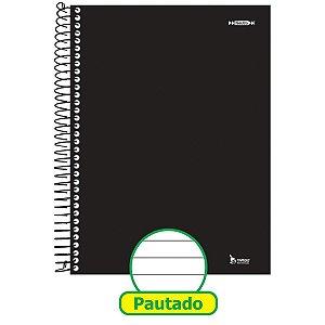 Caderno Espiral 1/4 Capa Dura Neutro Preto 96F Tamoio