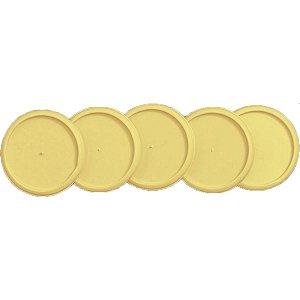 Caderno Inteligente Discos Grande 31Mm Amarelo Cerrado C/ Caderno Inteligente