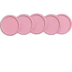 Caderno Inteligente Discos Grande 31Mm Rosa Sertao C/elas Caderno Inteligente