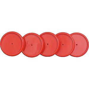 Caderno Inteligente Discos Grande 31Mm Vermelho C/elastic Caderno Inteligente