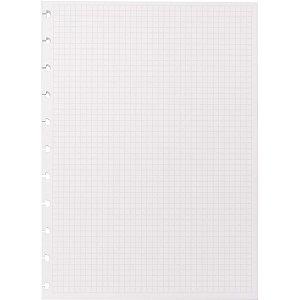 Caderno Inteligente Refil Grande Quadriculado 90G. 50Fls Caderno Inteligente