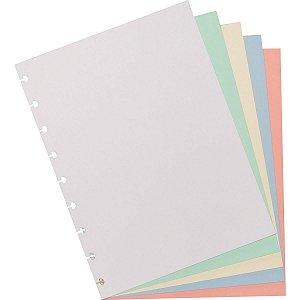 Caderno Inteligente Refil Medio Colorido 80G.50Fls. Caderno Inteligente