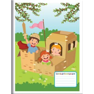 Caderno Quadriculado 1/4 1X1Cm 40F Brochura Flexivel Foroni
