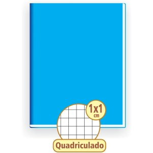 Caderno Quadriculado 1/4 1X1Cm 96F Brochura Capa Dura Tamoio