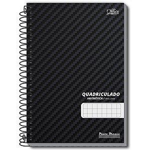 Caderno Quadriculado 1/4 7X7Mm 80F Espiral Office Cd Pauta Branca