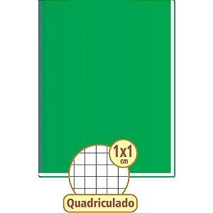 Caderno Quadriculado Univers. 1X1Cm 48F Brochurao C.d Verde Tamoio